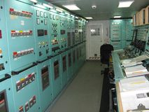 Engine control room Stock Photography