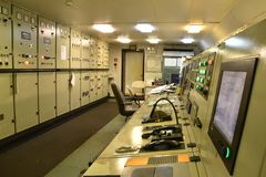 View on the engine control room royalty free stock image