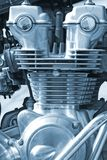 Engine cooler. Close up view of motorcycle engine Stock Images