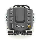 Engine with Cover Stock Photography