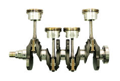 Engine crankshaft. Royalty Free Stock Photos