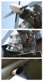 Engine désassemblée par avion photographie stock
