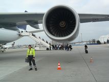 Engine d'Airbus A340 Photos stock