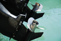 Engine de bateau images libres de droits