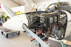 Engine de Cessna 152 Photographie stock libre de droits