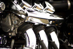Engine de moto Images libres de droits