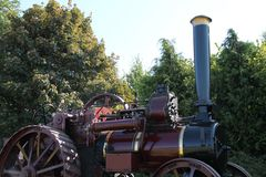 Engine de traction. Photo stock