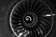 Engine de turbine Images libres de droits