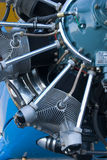 Engine Detail. The detail of the Boeing Stearman aircraft with Wright engine Stock Image