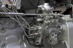 Engine detail. Diesel engine detail royalty free stock image