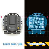 Engine Diagnostic Full X-ray Royalty Free Stock Images