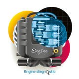 Engine Diagnostic Royalty Free Stock Images