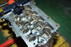 Engine of diesel standing Stock Image