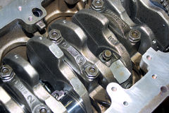 Engine of diesel standing Royalty Free Stock Image
