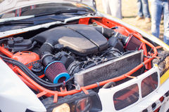 Engine of the drift car Royalty Free Stock Photos