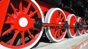 The engine driving the ancient Russian locomotive. The engine driving the ancient Russian (Soviet) locomotive Royalty Free Stock Photography