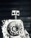 Engine driving shaft bearing and piston Stock Photography