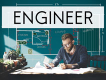Engine Engineer Engineering Machine Occupation Concept Royalty Free Stock Images
