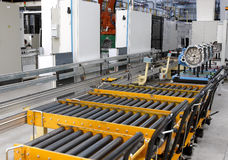 Engine factory. Auto engine factory interior with spare parts production unit royalty free stock image