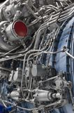 Engine of fighter jet Stock Photography