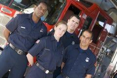 engine fire firefighters portrait standing στοκ εικόνες