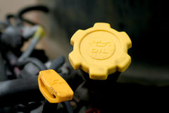 Engine fluid fill caps royalty free stock image