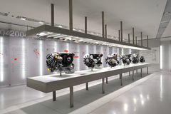 Engine gallery in BMW Museum Stock Image
