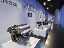 Engine gallery in BMW Museum Royalty Free Stock Photos