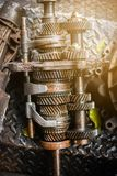 Engine gear wheel remove from car Stock Photo