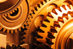 Engine gear wheels Stock Images