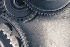 Engine gear wheels, industrial background Stock Photo