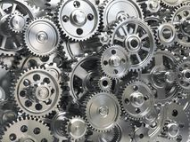 Engine gear wheels. Industrial and teamwork concept background. Royalty Free Stock Photo