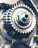 Engine gears wheels. Closeup view Stock Photo