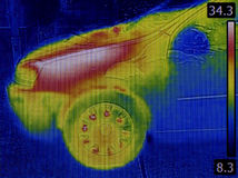 Engine Heat Distribution Infrared Stock Image