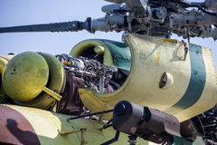 Engine of helicopter Mil Mi-17 Royalty Free Stock Images