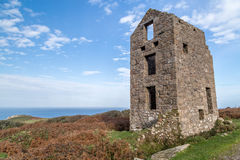 Engine house rosemary and bosigran cornwall uk Royalty Free Stock Photo