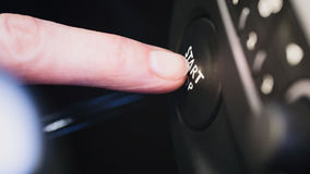 Engine Ignition - Start Stop Button Royalty Free Stock Photography