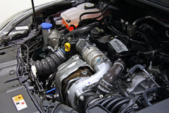 Engine inside a car royalty free stock photography