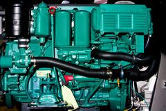 Engine intérieure de bateau Photos stock