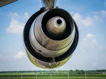 Engine of a jumbo jet Stock Images