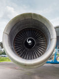 Engine of a jumbo jet Stock Photo