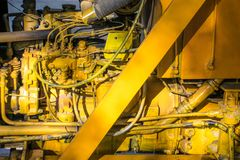 Engine of a lifting crane Royalty Free Stock Photography
