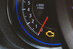 Engine light. Show in dashboard,engine have some problem Royalty Free Stock Image