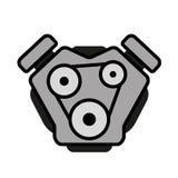 Engine logo gasoline diesel robot. With Piston Stock Photos