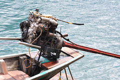Engine of long tailed boat Royalty Free Stock Photography
