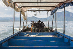 Engine of long-tailed boat a second hand car or truck engine. Tak ,Thailand. Engine of long-tailed boat a second hand car or truck engine. Tak ,Thailand stock photos