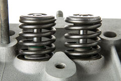 Engine maintenance valve springs Stock Images
