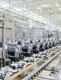 Engine manufacturing. Production line for manufacturing of the engines in the car factory Stock Images