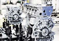 Engine manufacturing Royalty Free Stock Photos