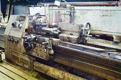 Engine metal lathe machine Royalty Free Stock Photography